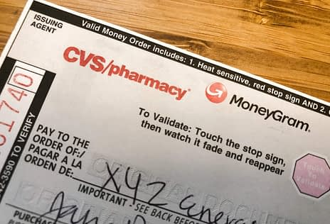 Money Order from CVS